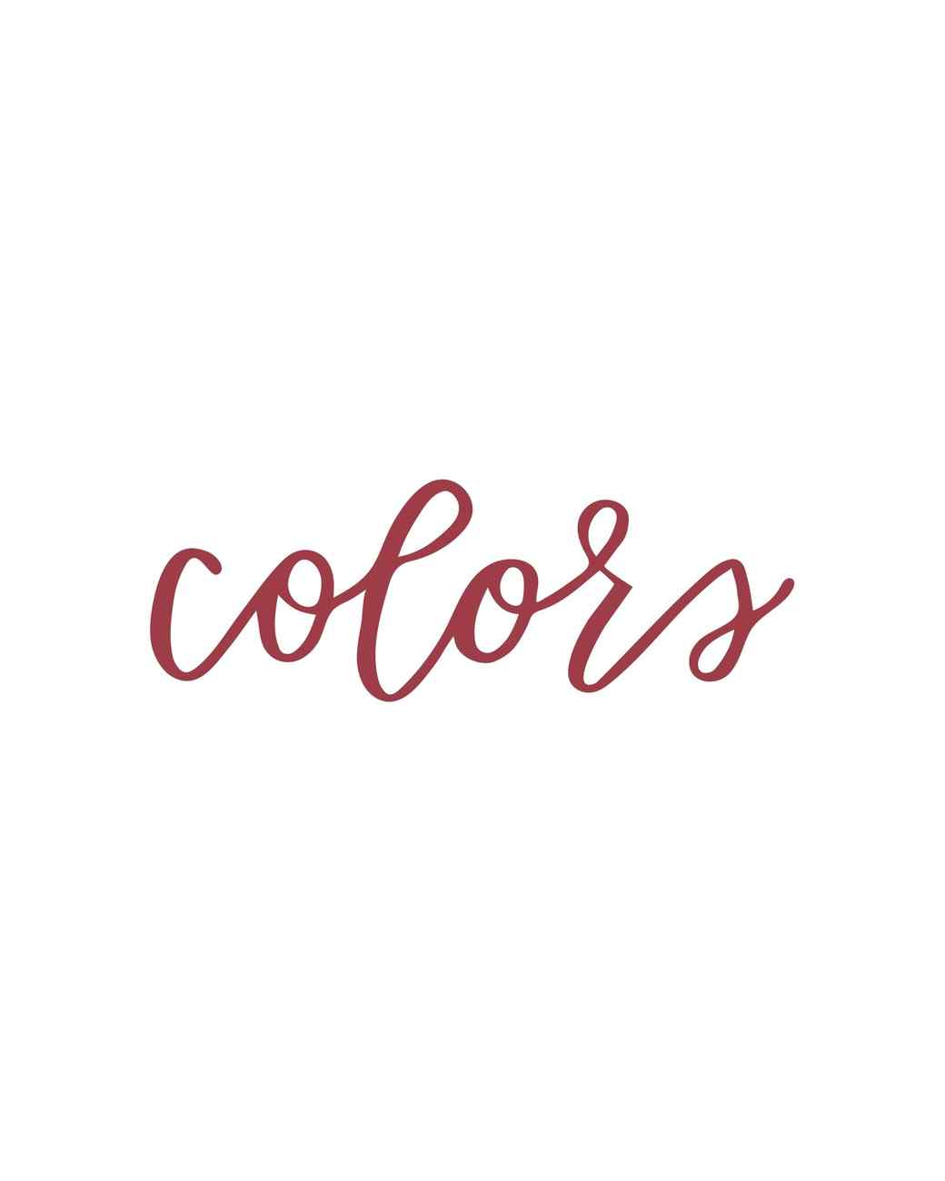 """""""colors"""" in calligraphy"""
