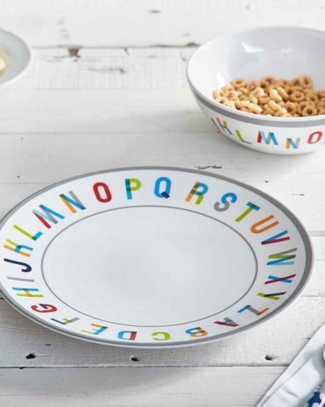 alphabet plate and bowl