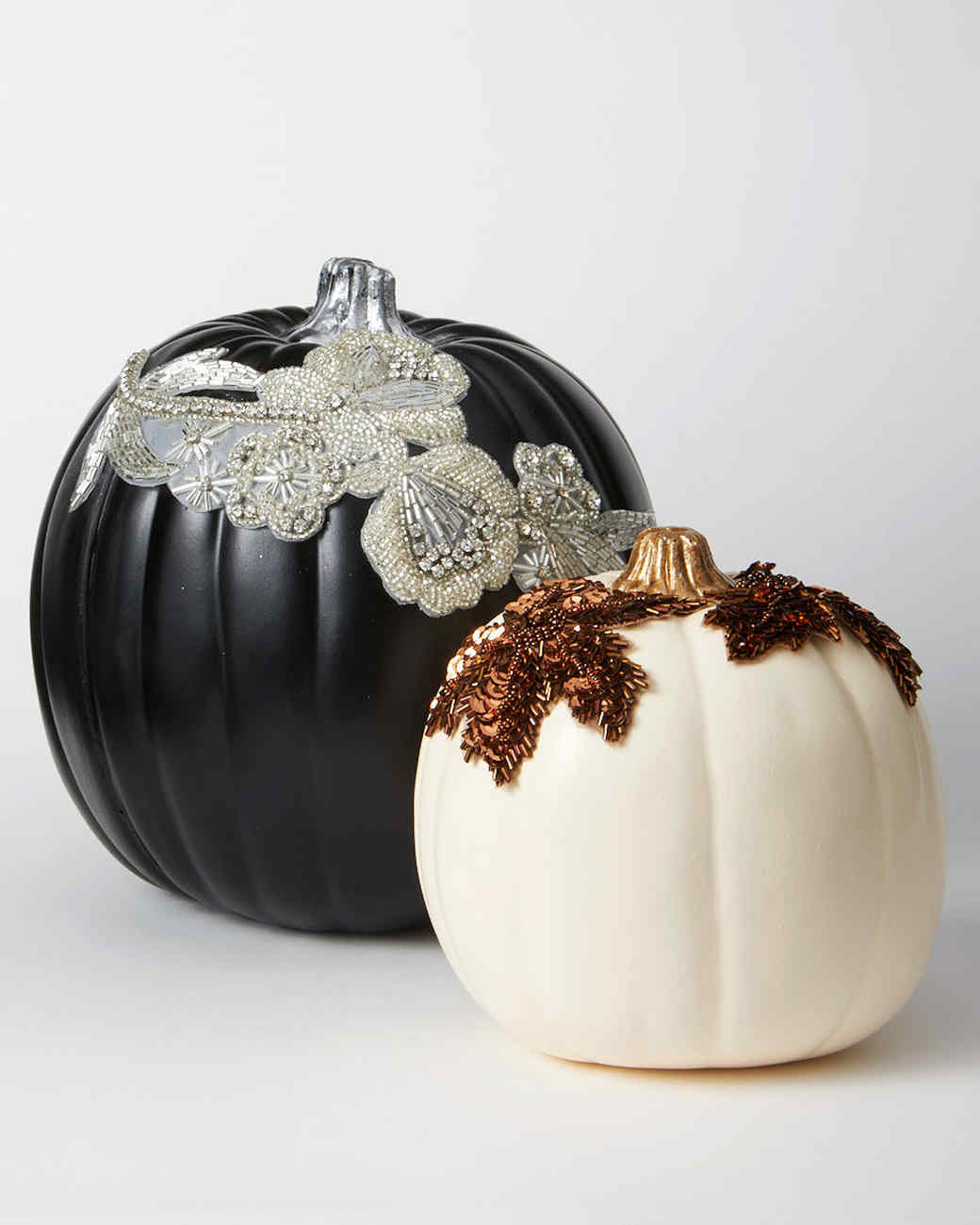 applique pumpkins bronze silver