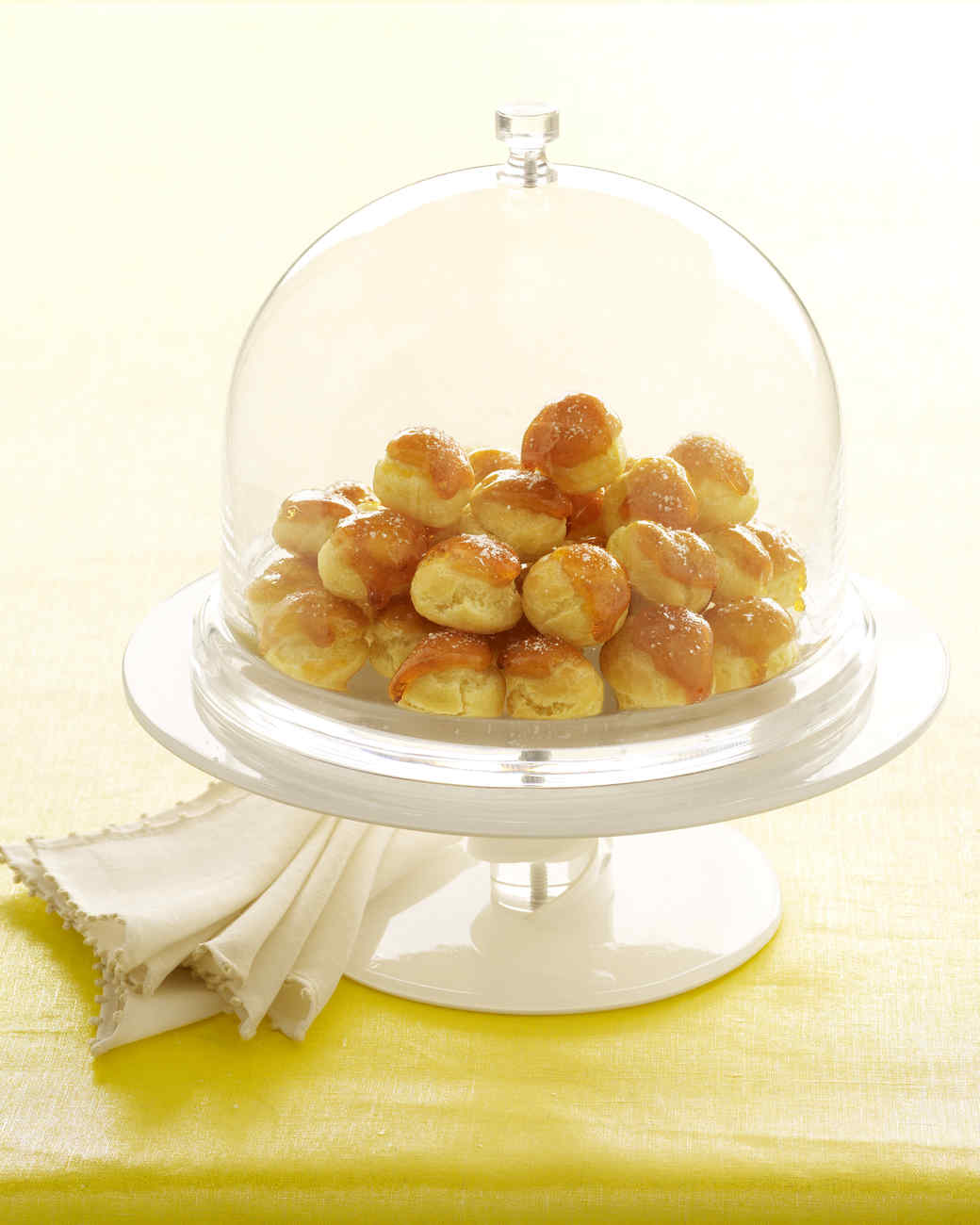 Blue Cheese Gougeres with Caramel and Salt