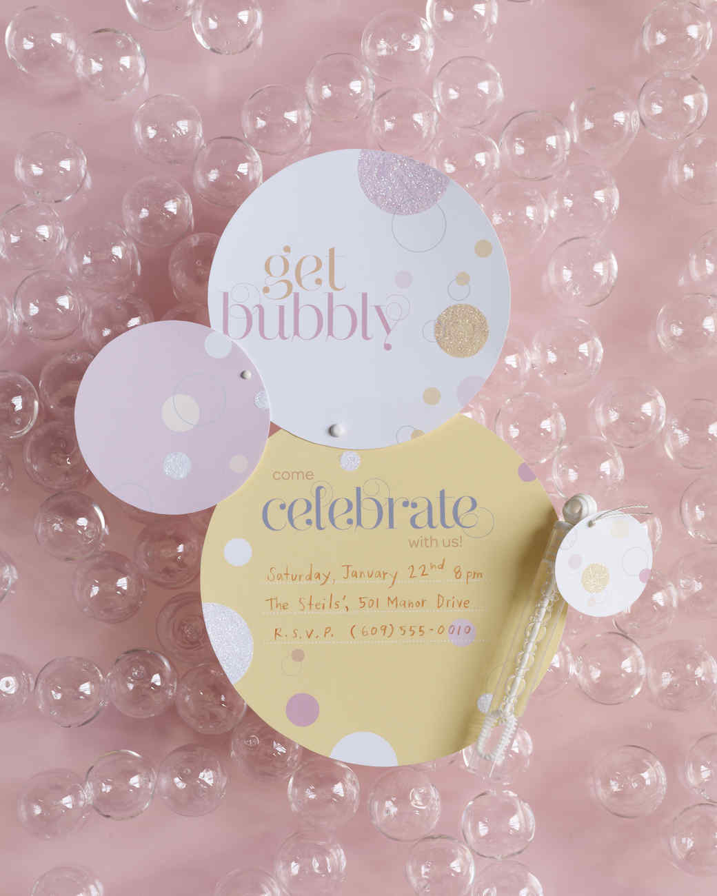 bubble invitations martha stewart