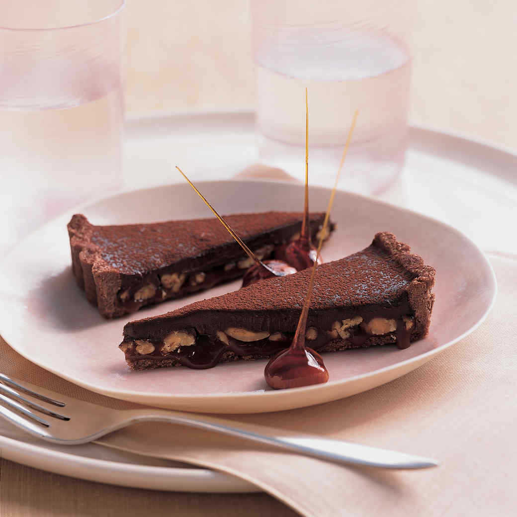 Chocolate, Caramel, and Pecan Tart