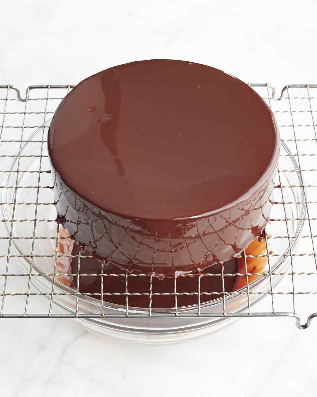 Jacques Torres 39 S Shiny Chocolate Glaze Recipe Martha Stewart
