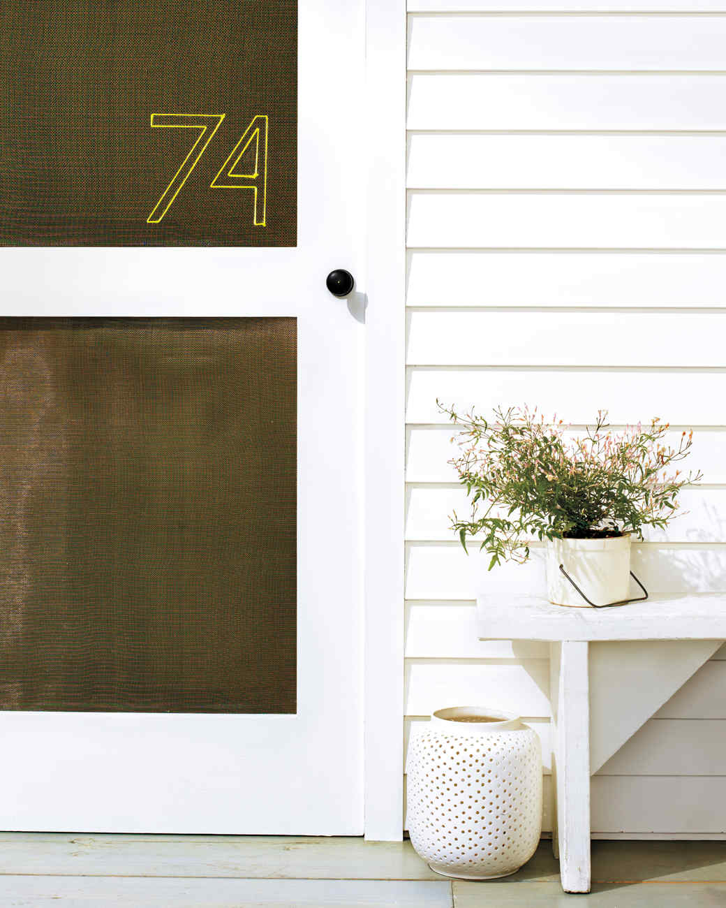 How To Stitch A Nylon Twine House Number. Give Your Screen Door A Simple ...