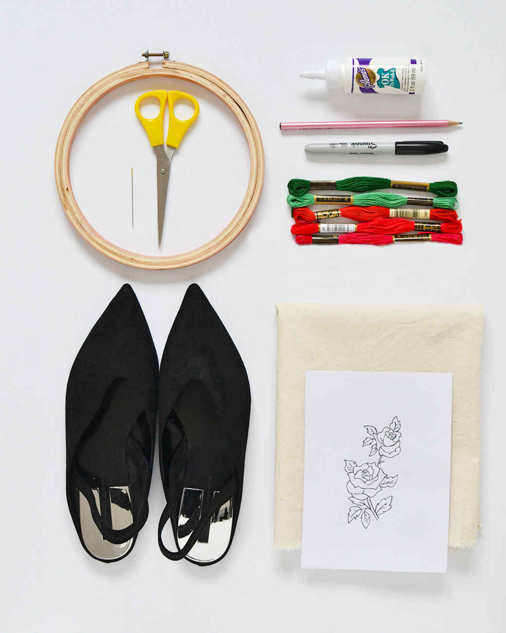 embroidery patch flats materials