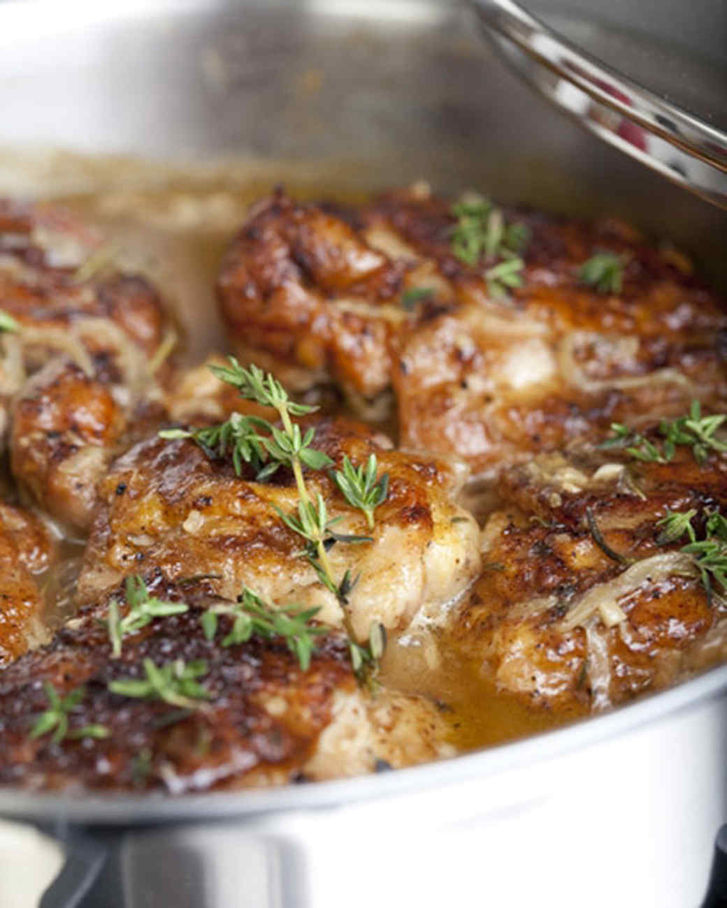 Emeril's Braised Chicken Thighs Recipe | Martha Stewart