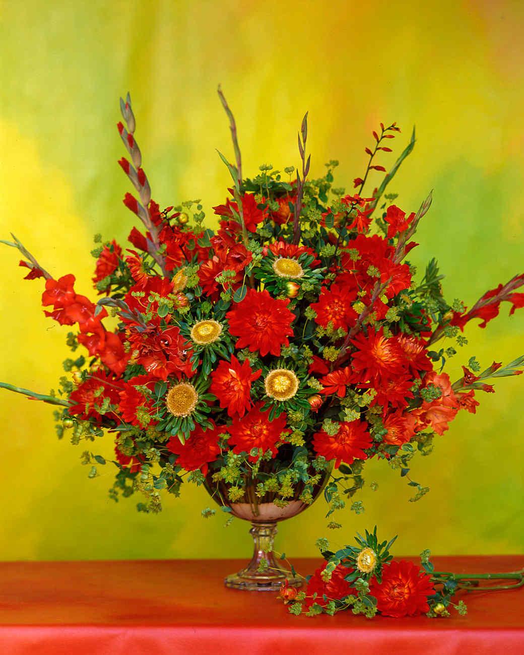 Red flower arrangements martha stewart mightylinksfo Images