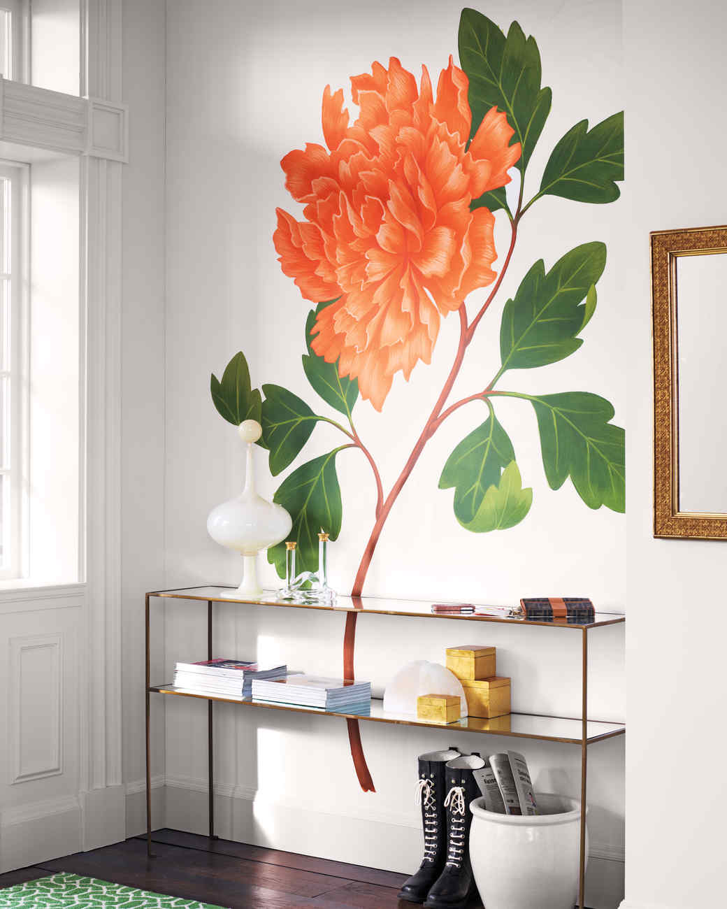 Floral decorating ideas martha stewart for Mural of flowers