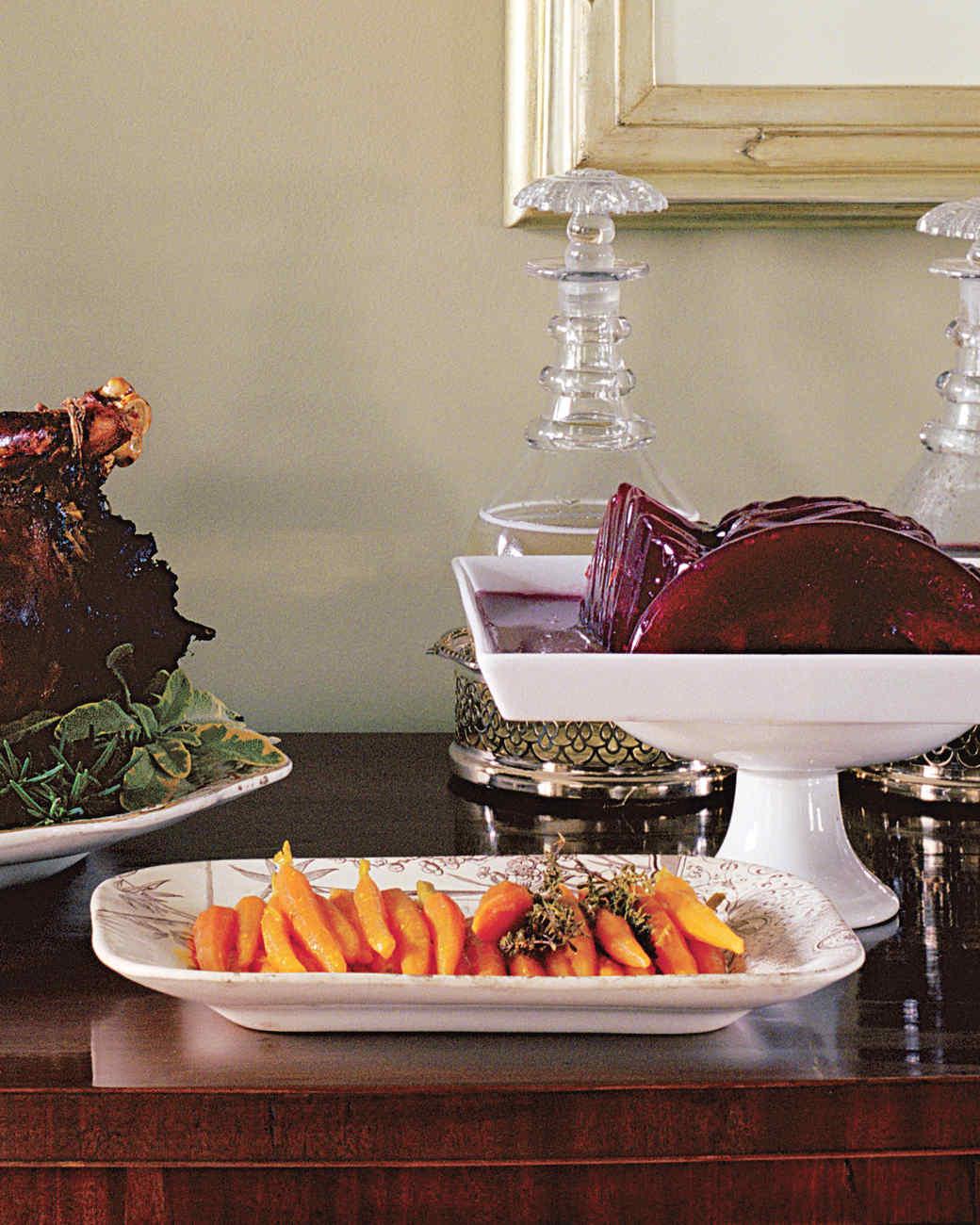 Glazed Carrots for Roast Turkey Dinner