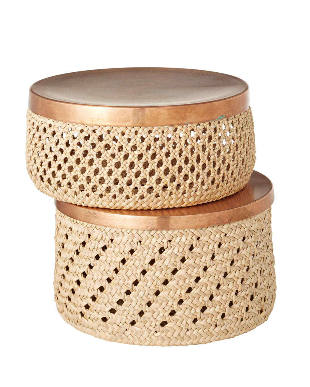 handwoven rush baskets