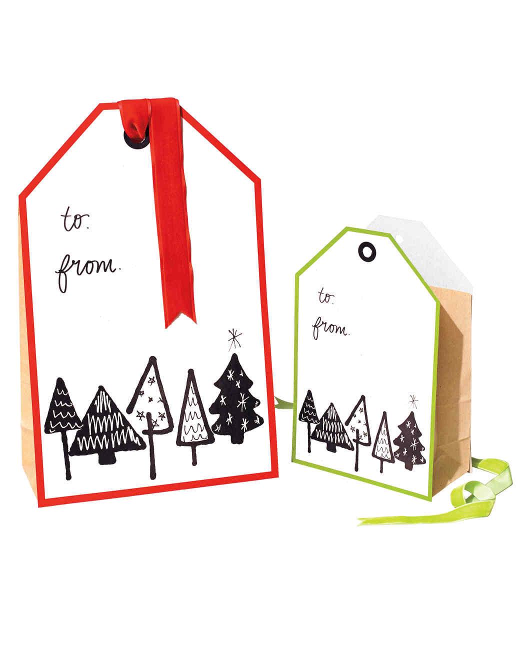All-in-One Christmas Gift Tag Bag | Martha Stewart