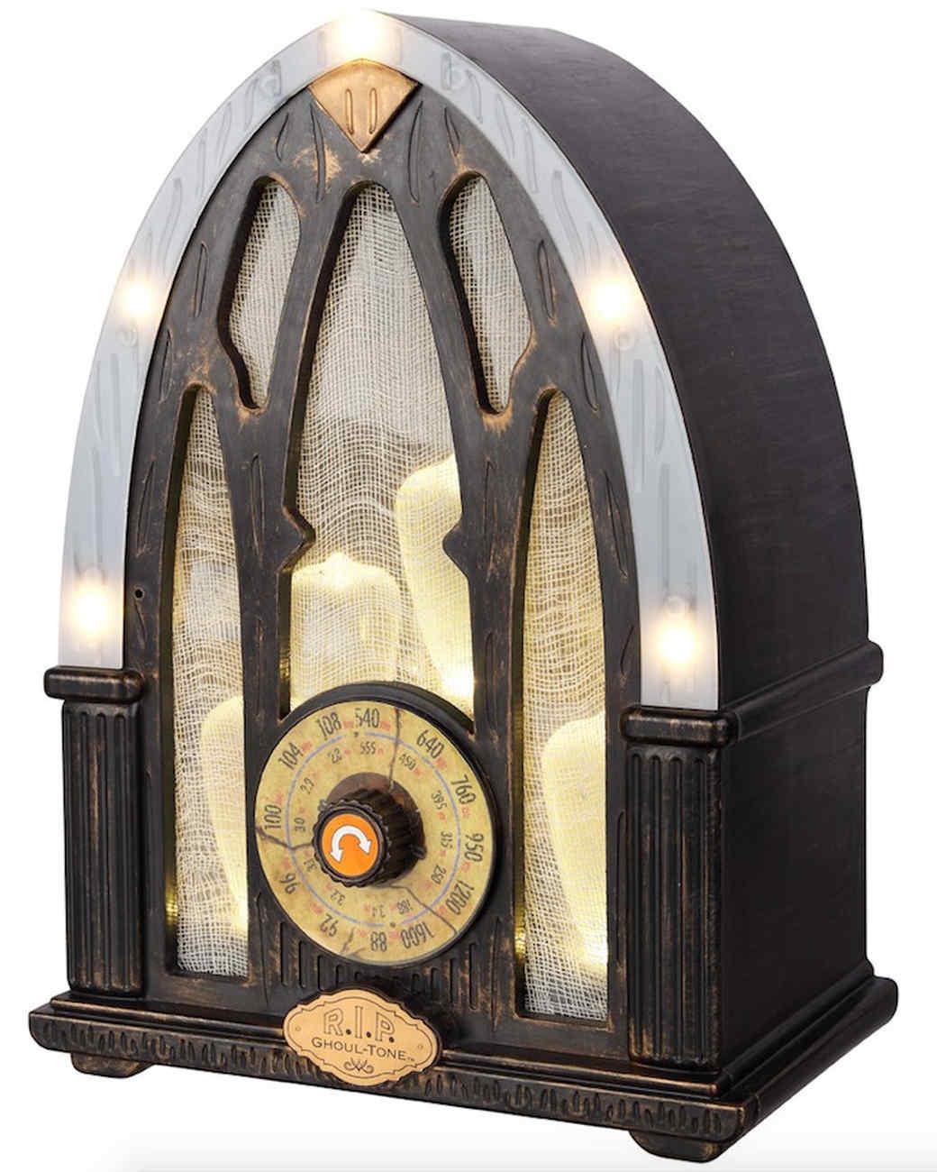 halloween animated vintage radio