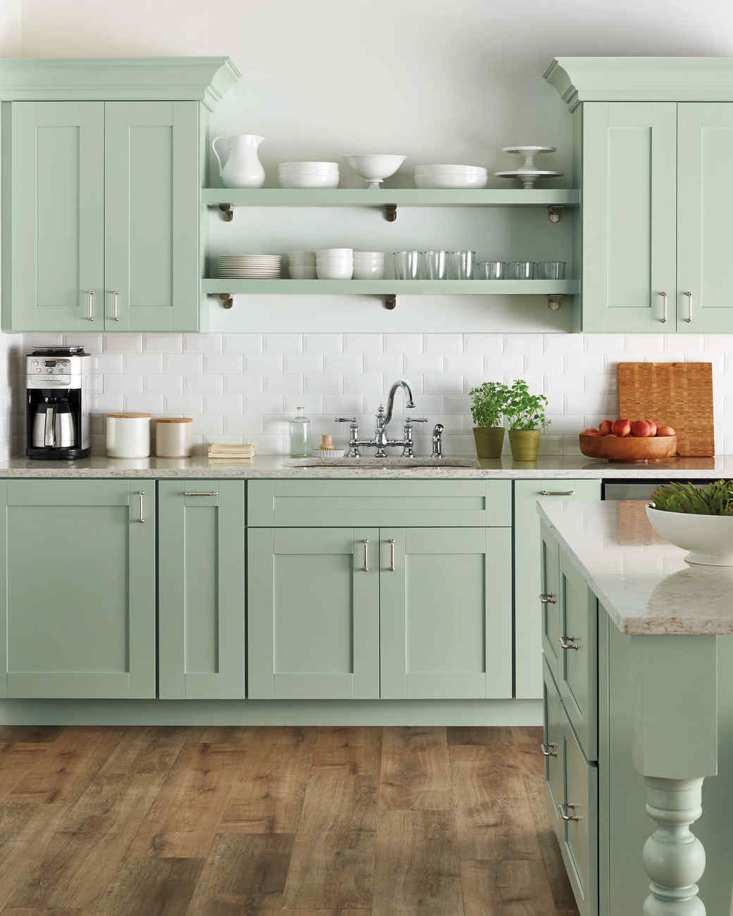 Home Depot Select Kitchen Style Green Cabinets