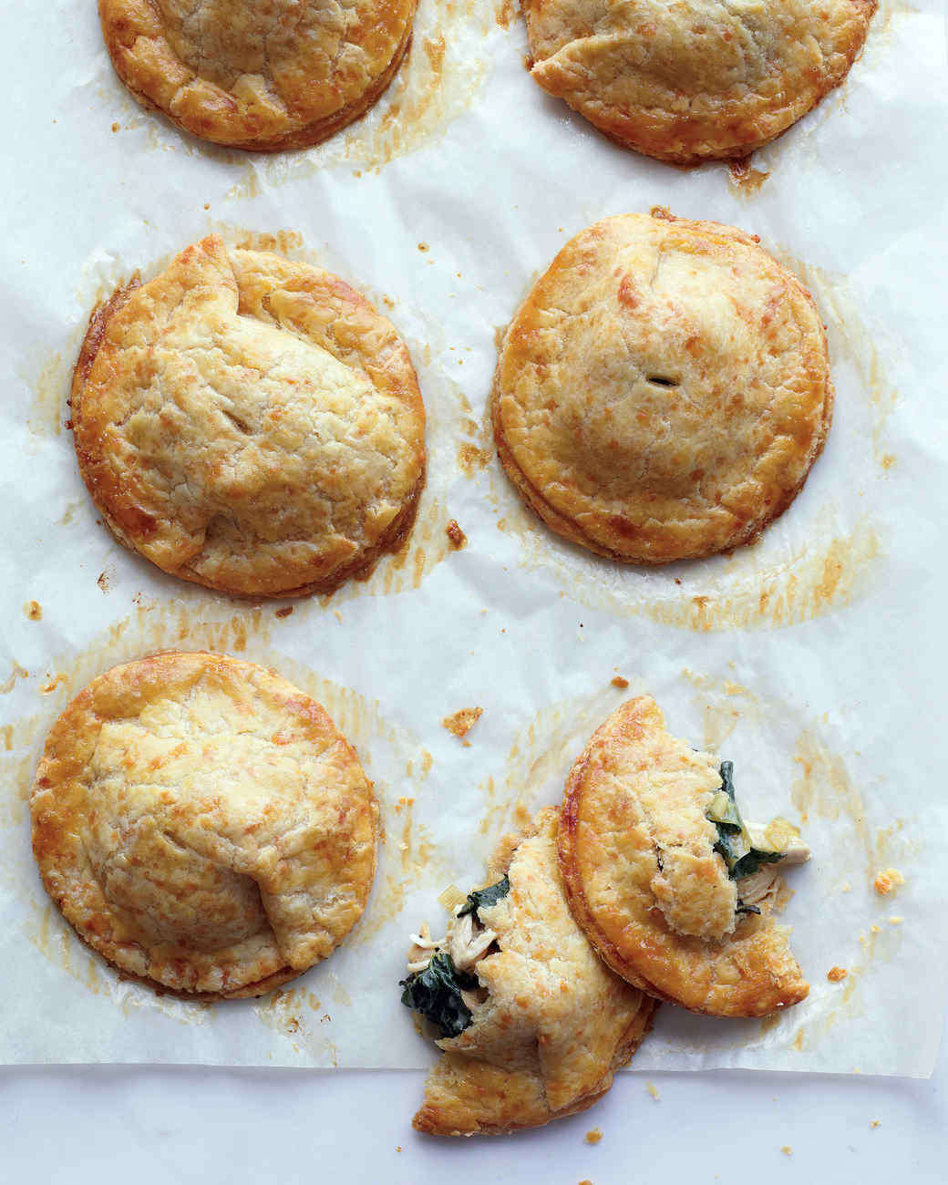 Chicken and Kale Hand Pies with Cheddar Crust