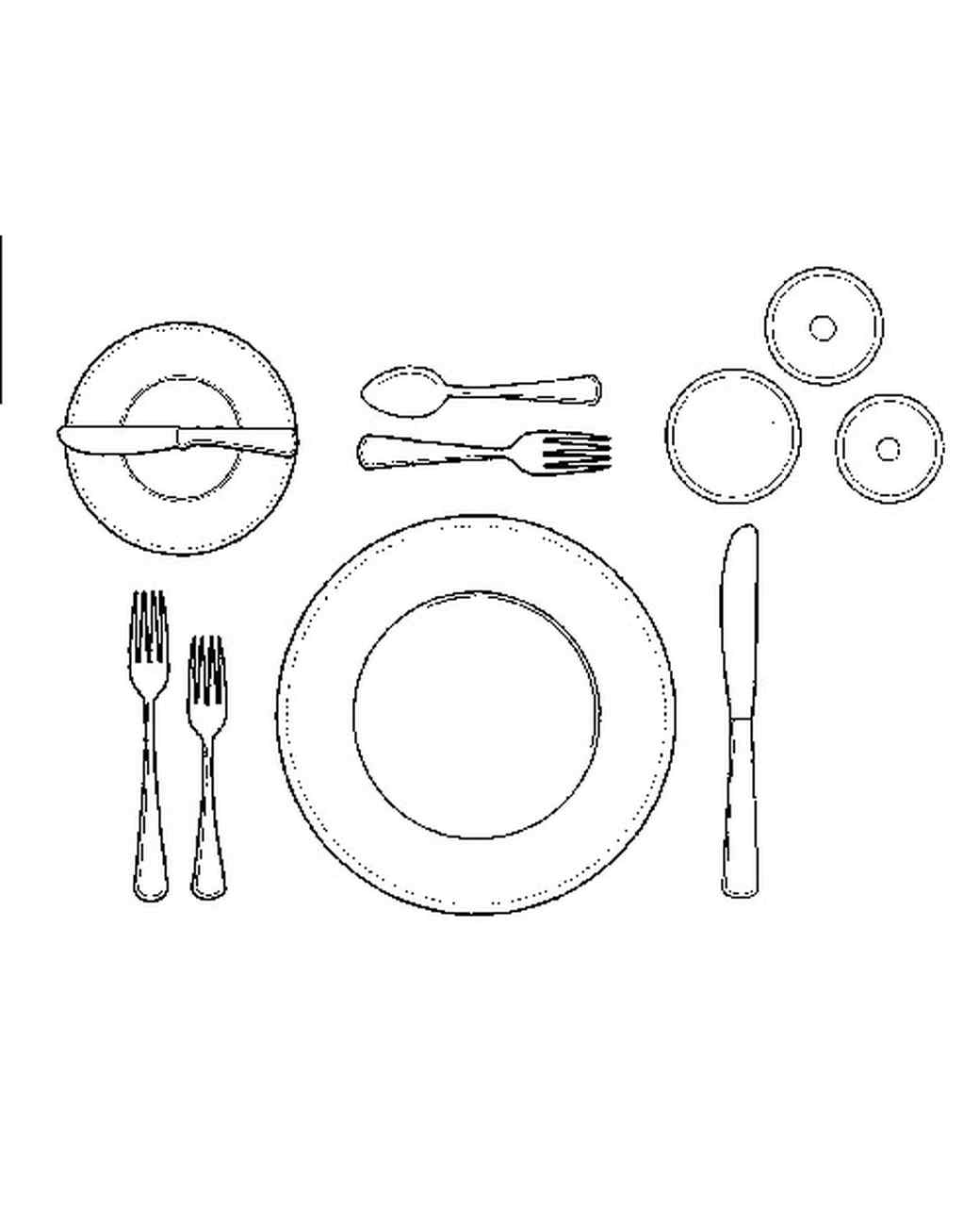 Diagram of place setting online schematic diagram how to set a formal dinner table martha stewart rh marthastewart com diagram of informal place setting american place setting diagram ccuart Gallery