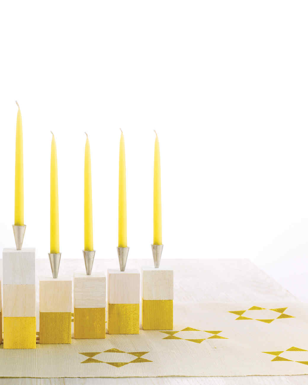 Starry Stamped Hanukkah Table Runner