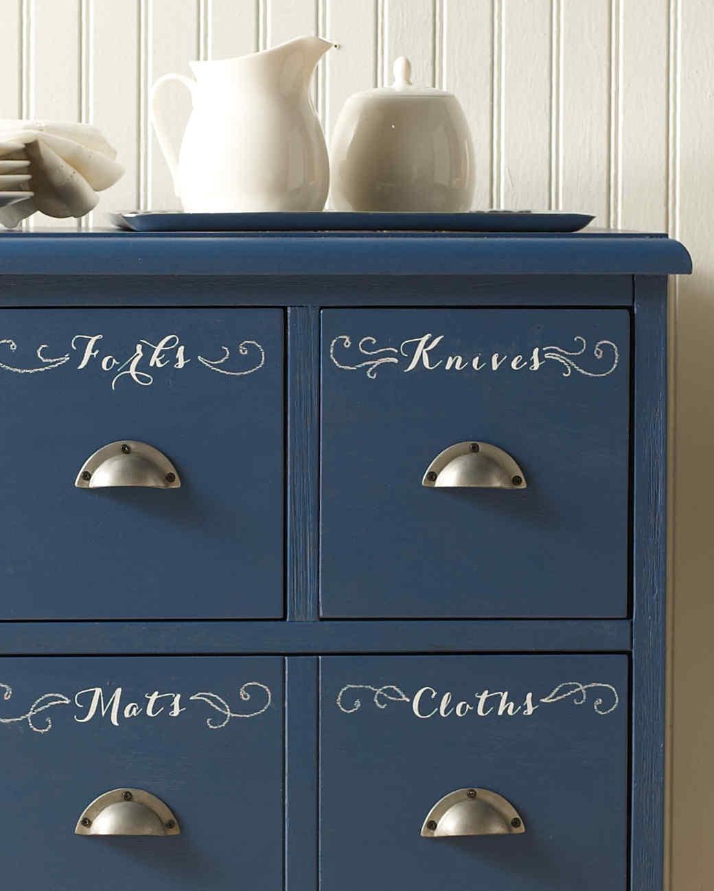 Gentil Chalkboard Paint Tableware Dresser