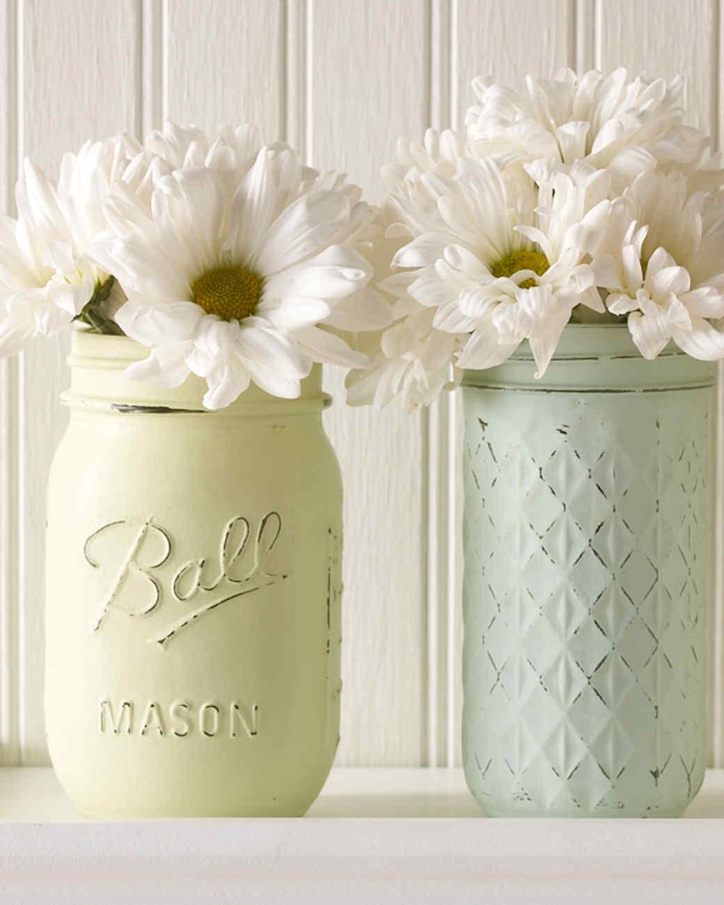 Mason Jars Turned Vintage Decor Vases