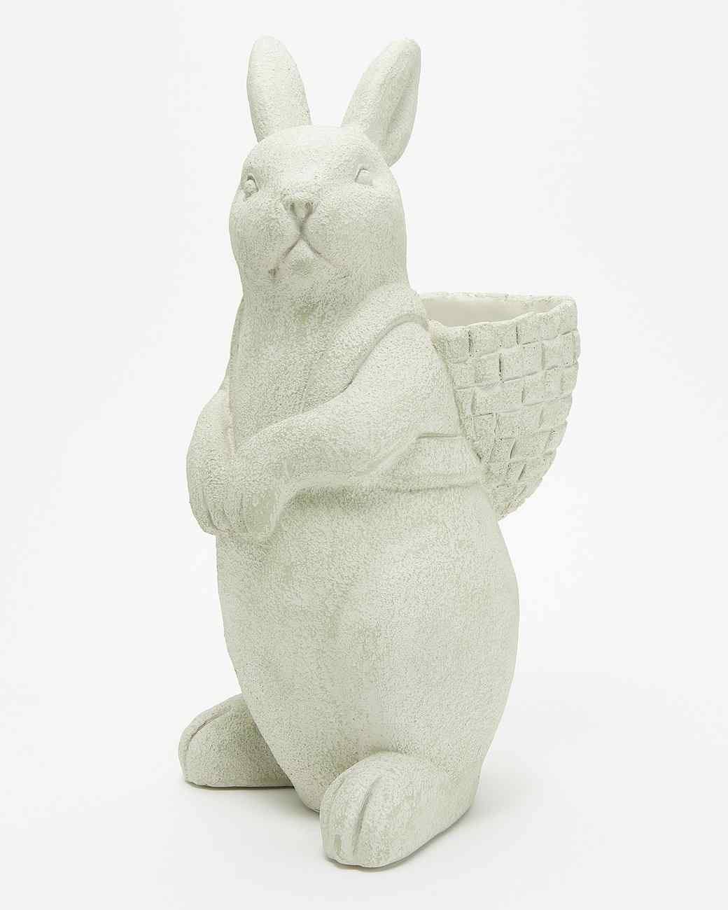 stone bunny planter from qvc