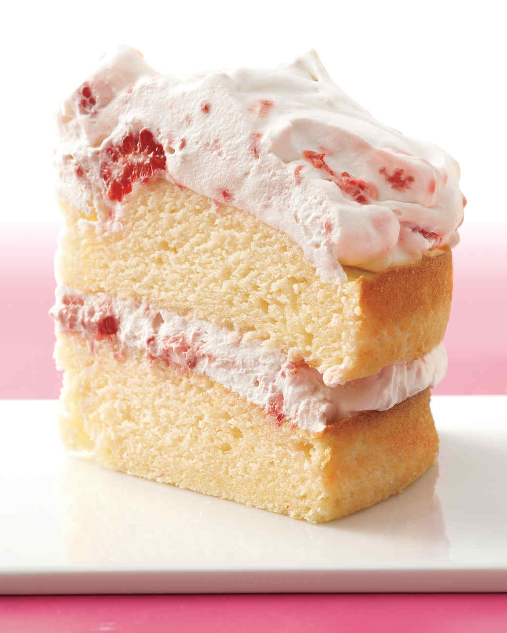 Raspberry-Cream Layer Cake