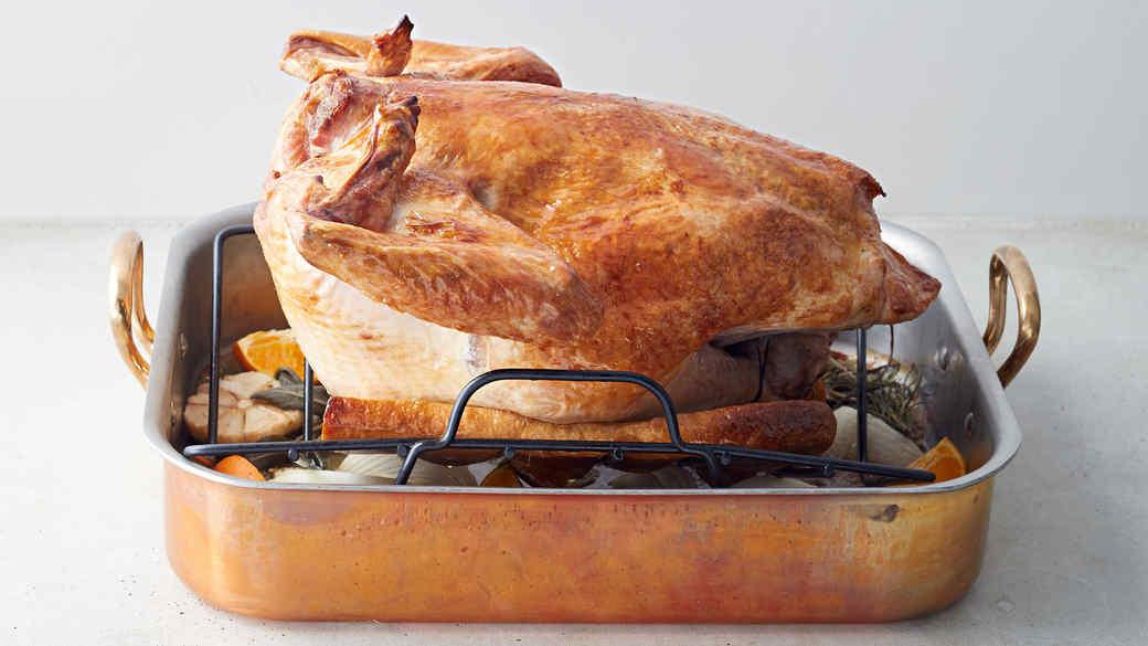 Turkey roasted breast side down