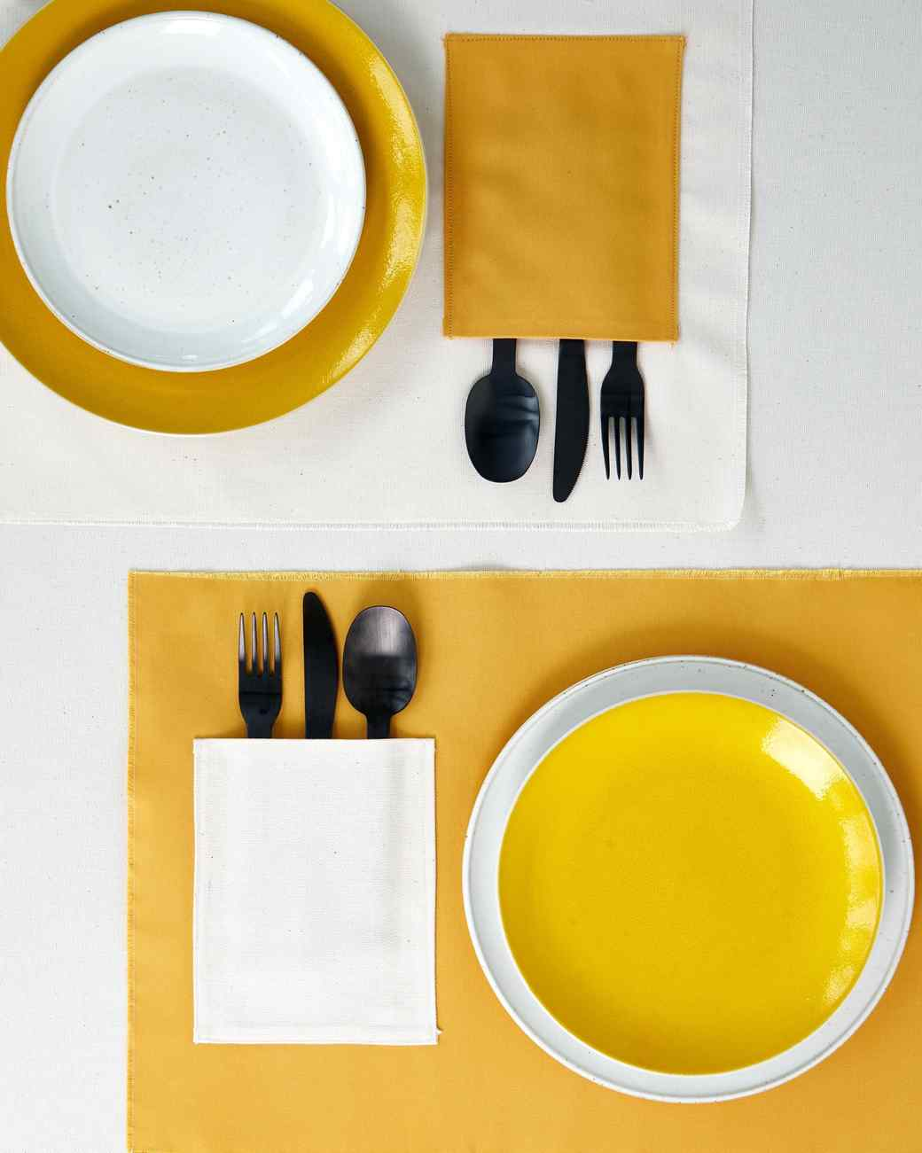 waxed canvas place mats