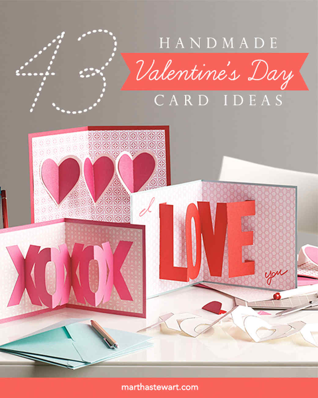 Valentine 39 s day cards martha stewart for What to put on a valentines card