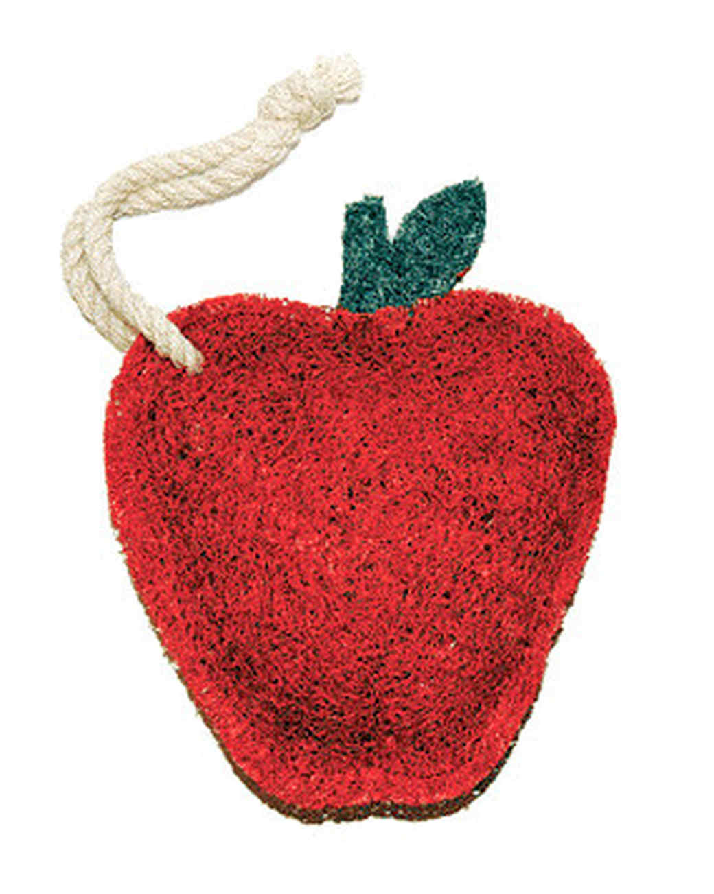 apple-shaped kitchen scrubber