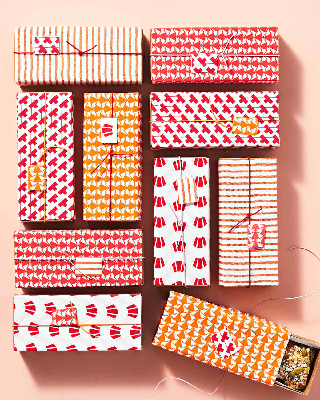 fabric-wrapped gift box
