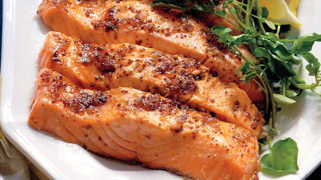 e0ebb99df76c Salmon with Brown Sugar and Mustard Glaze