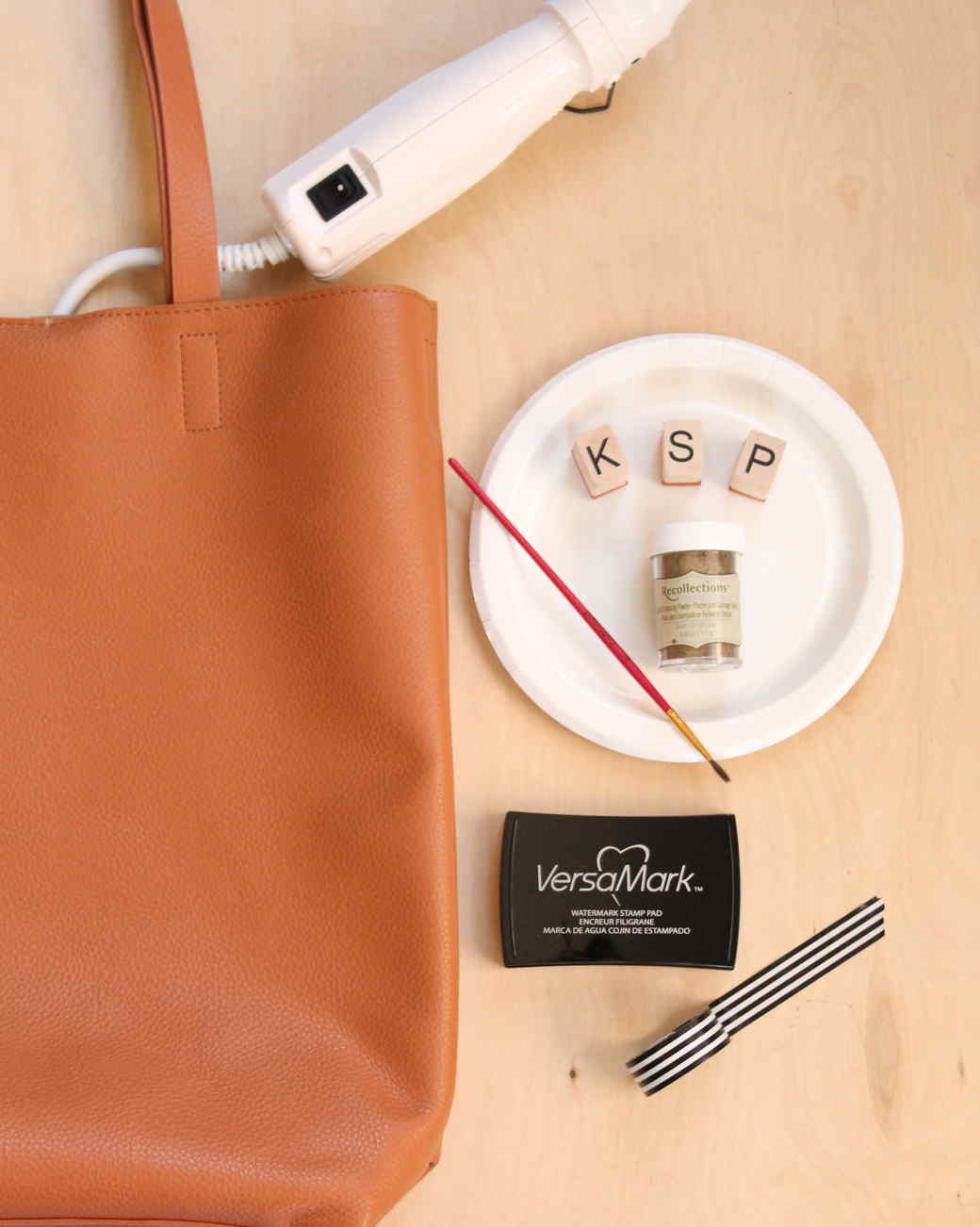 Embossed Monogram Tote Materials