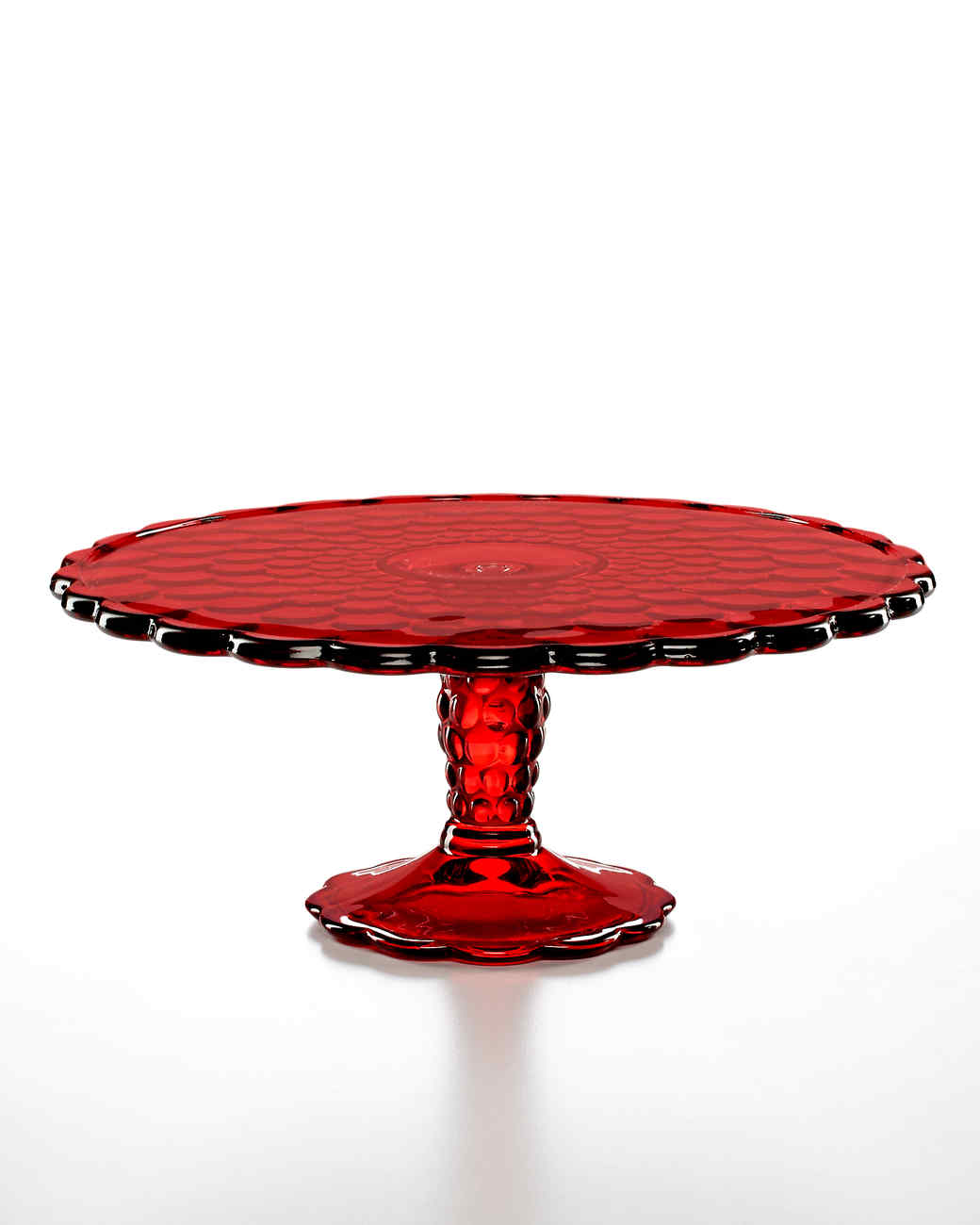 red cake stand set your table with the martha stewart collection 6999