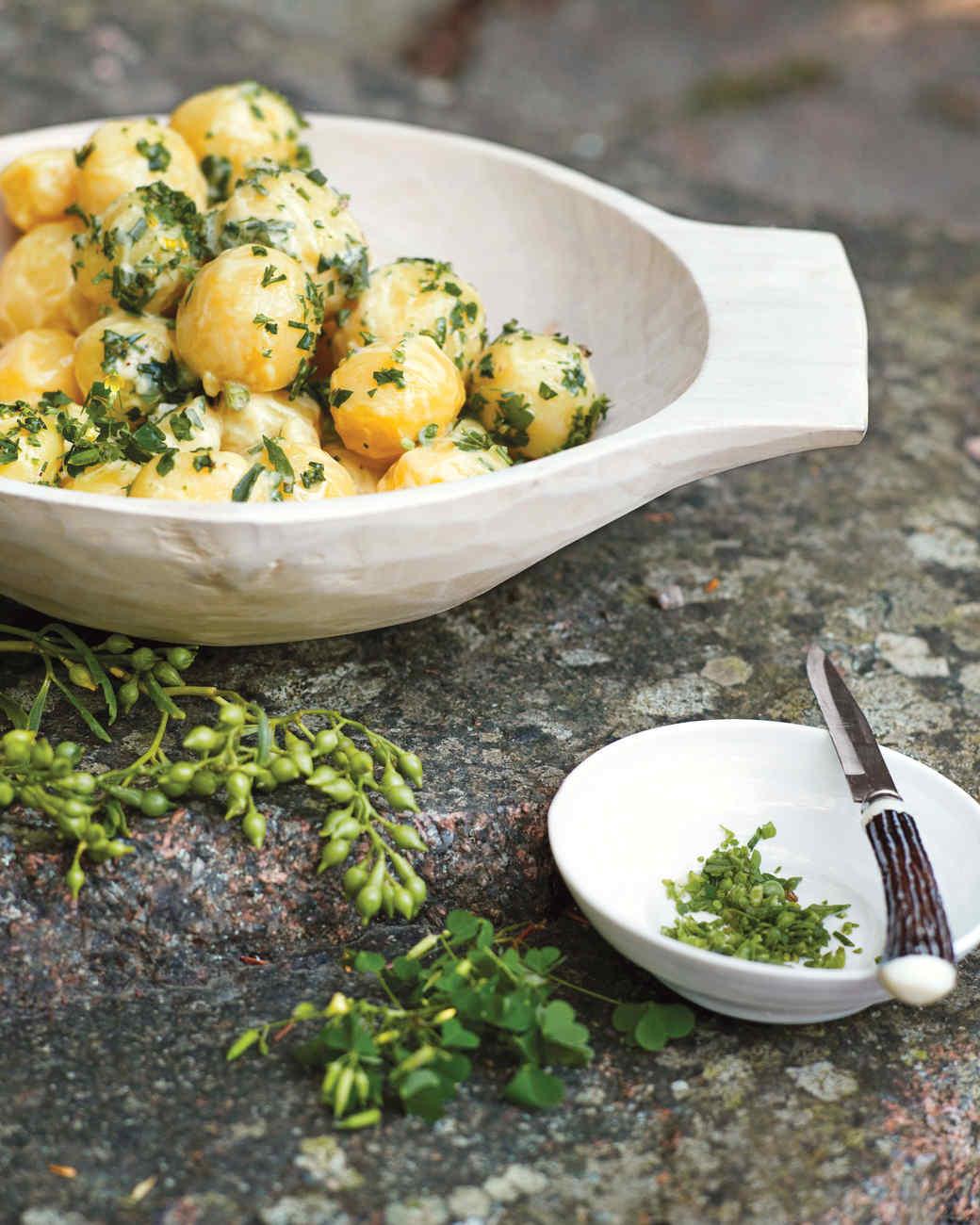 Sea Rocket Potato Salad