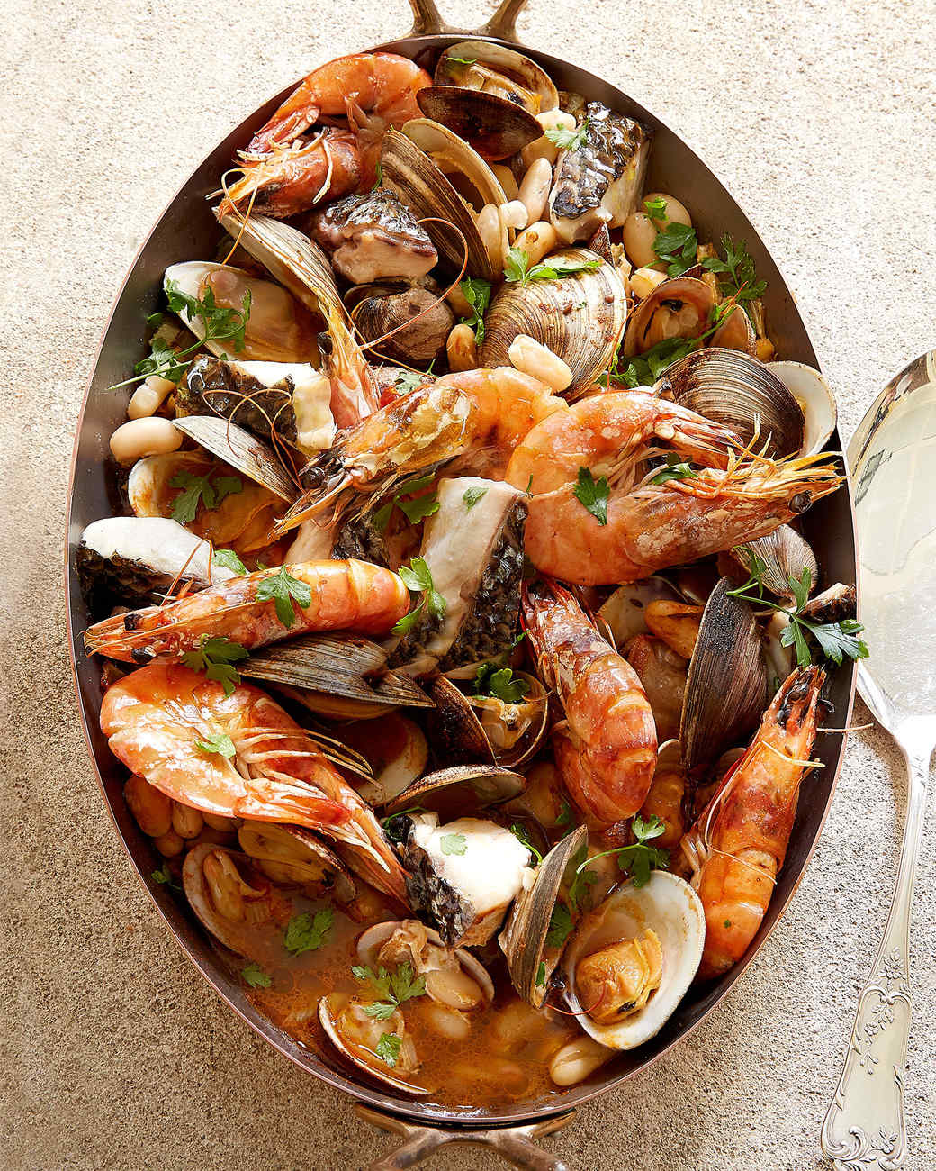 seafood in fennel broth
