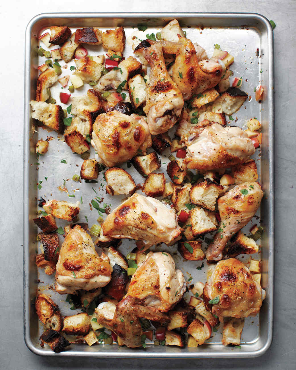 inside out chicken and stuffing more stuffing martha sheet pan suppers ...
