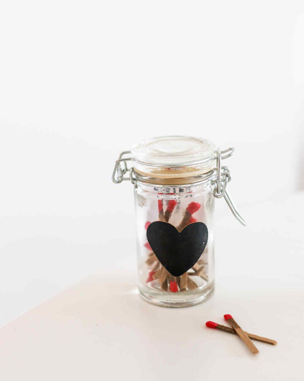 strike-anywhere match jar valentine