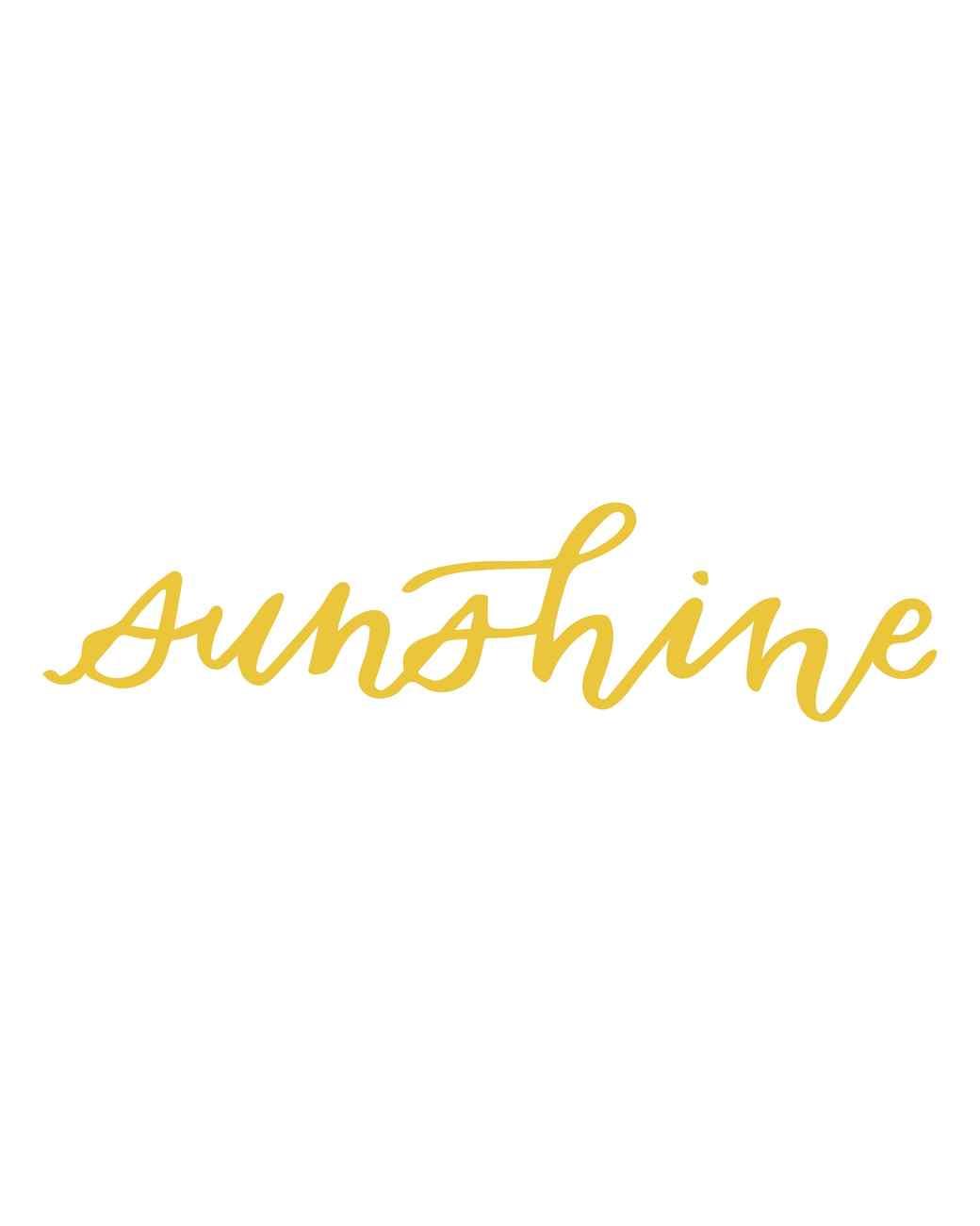 """sunshine"" calligraphy"