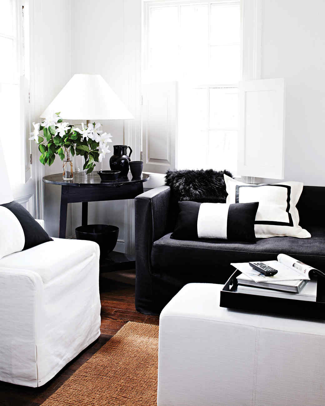 The Art of Decorating with Black and White | Martha Stewart
