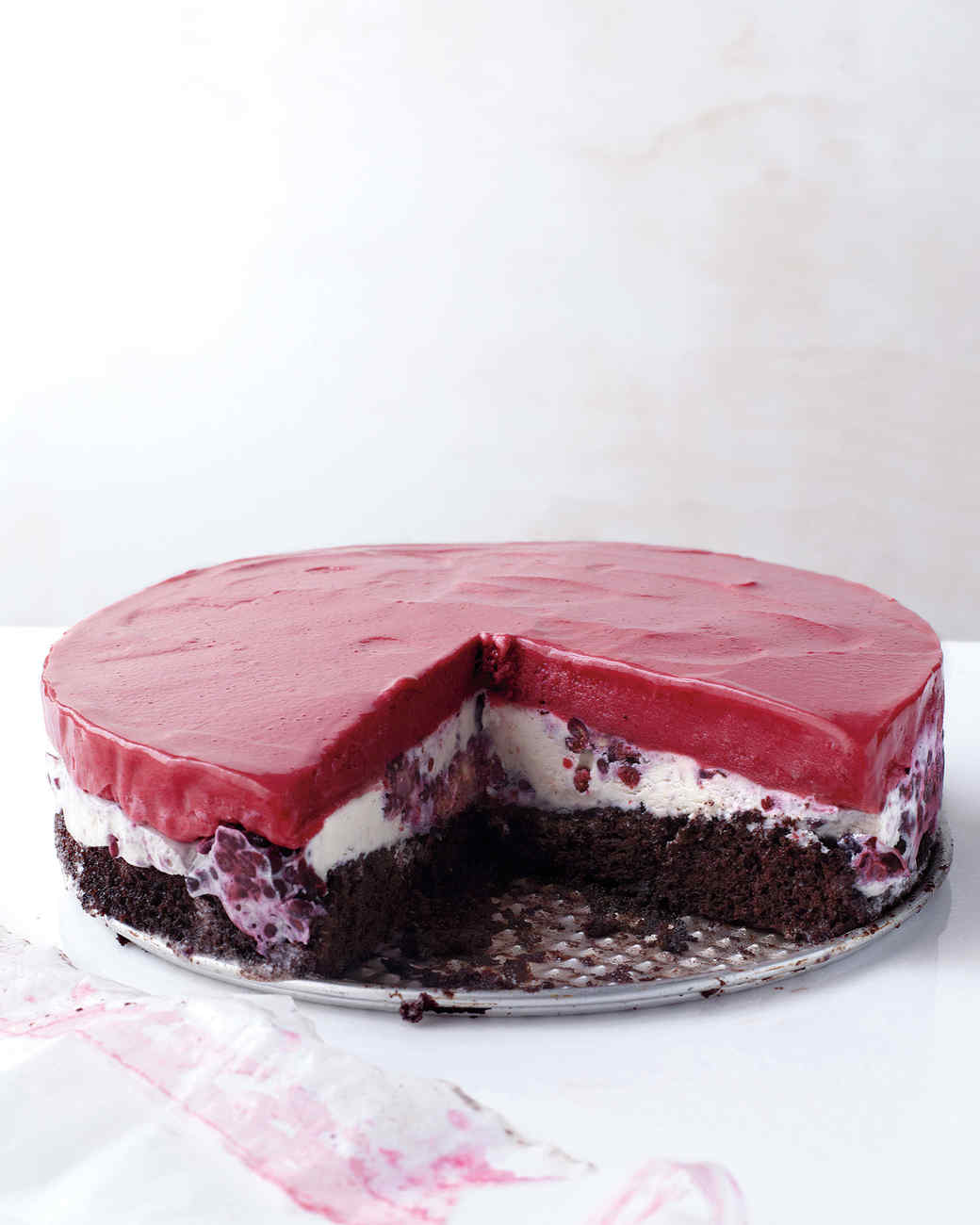 Berry Ice Cream Cake Recipe Chocolate-berry Ice Cream Cake