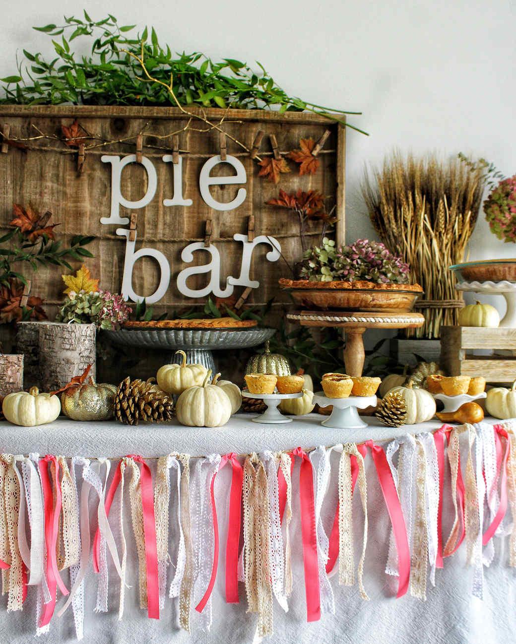thanksgiving pie bar