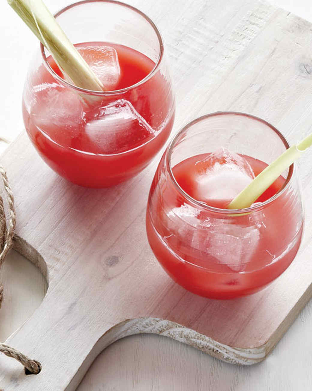 Watermelon Juice with Ginger and Lemongrass