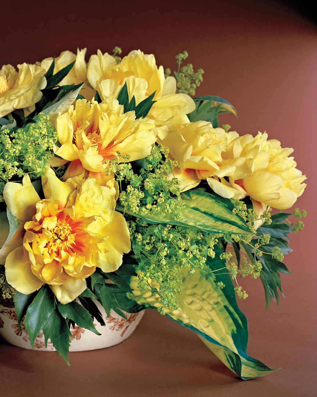 Yellow flower arrangements martha stewart tree peony arrangement mightylinksfo