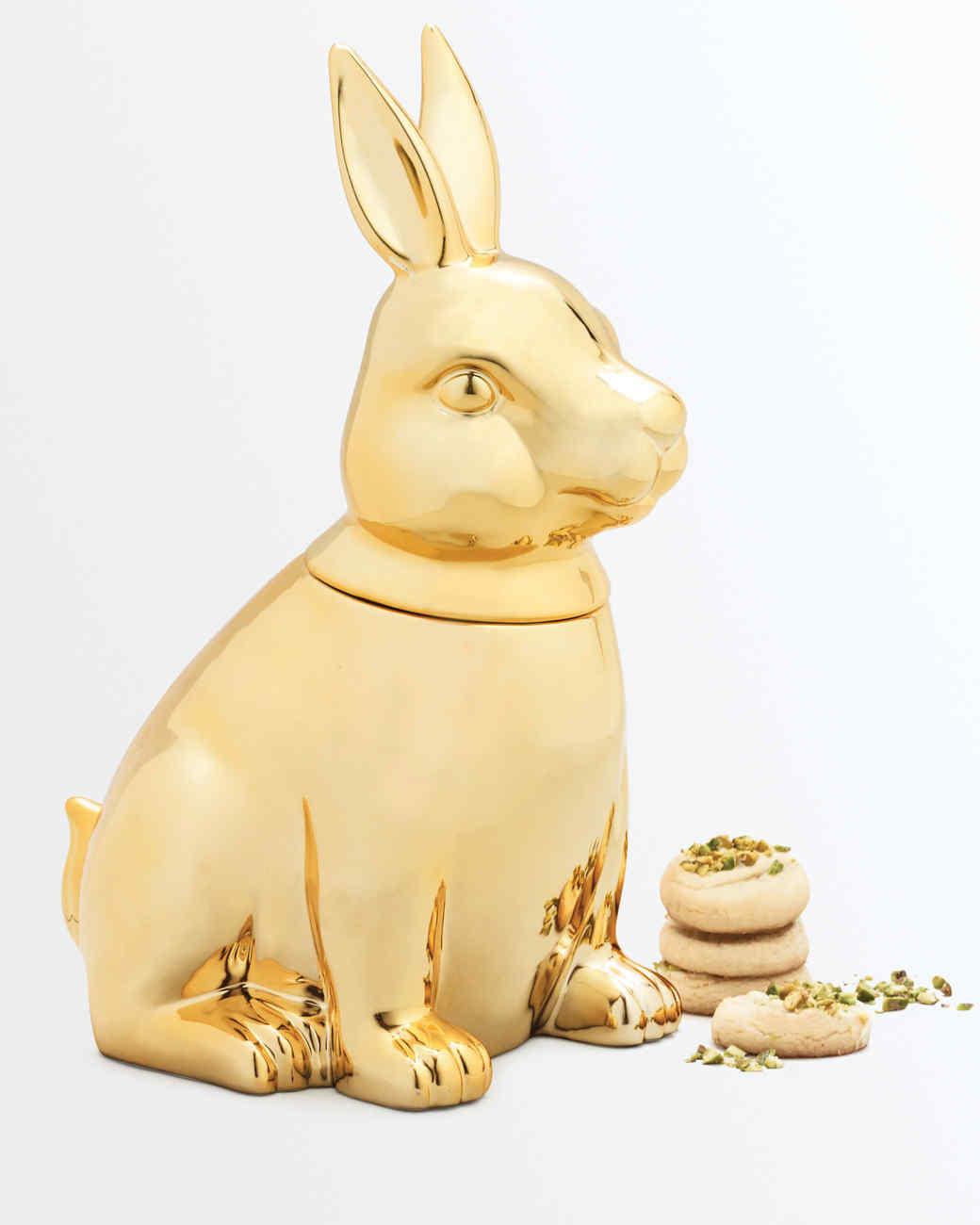 macys gold cookie jar bunny