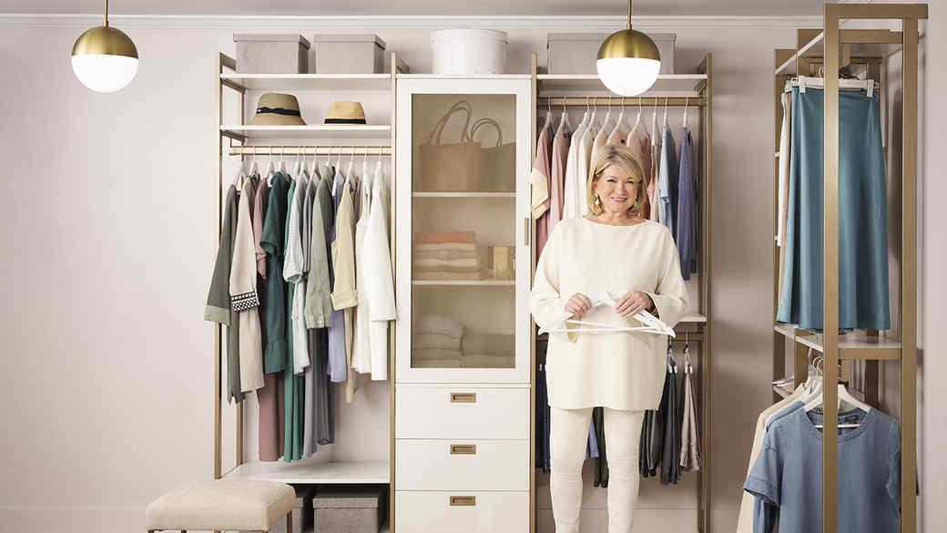 Martha Stewart's California Closet collaboration