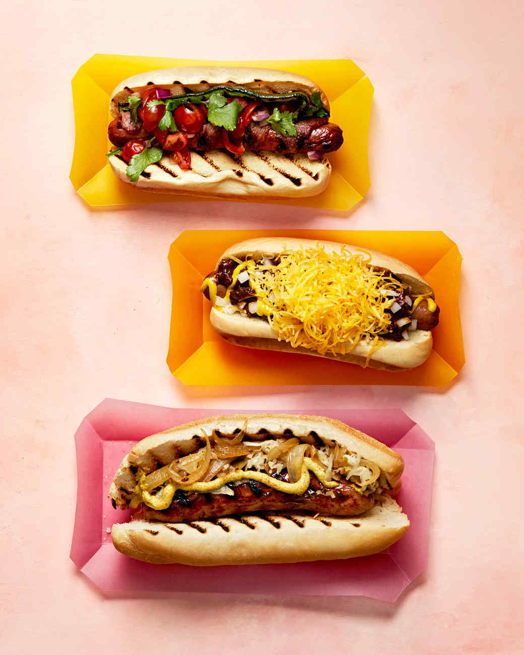 three ways to work a hot dog