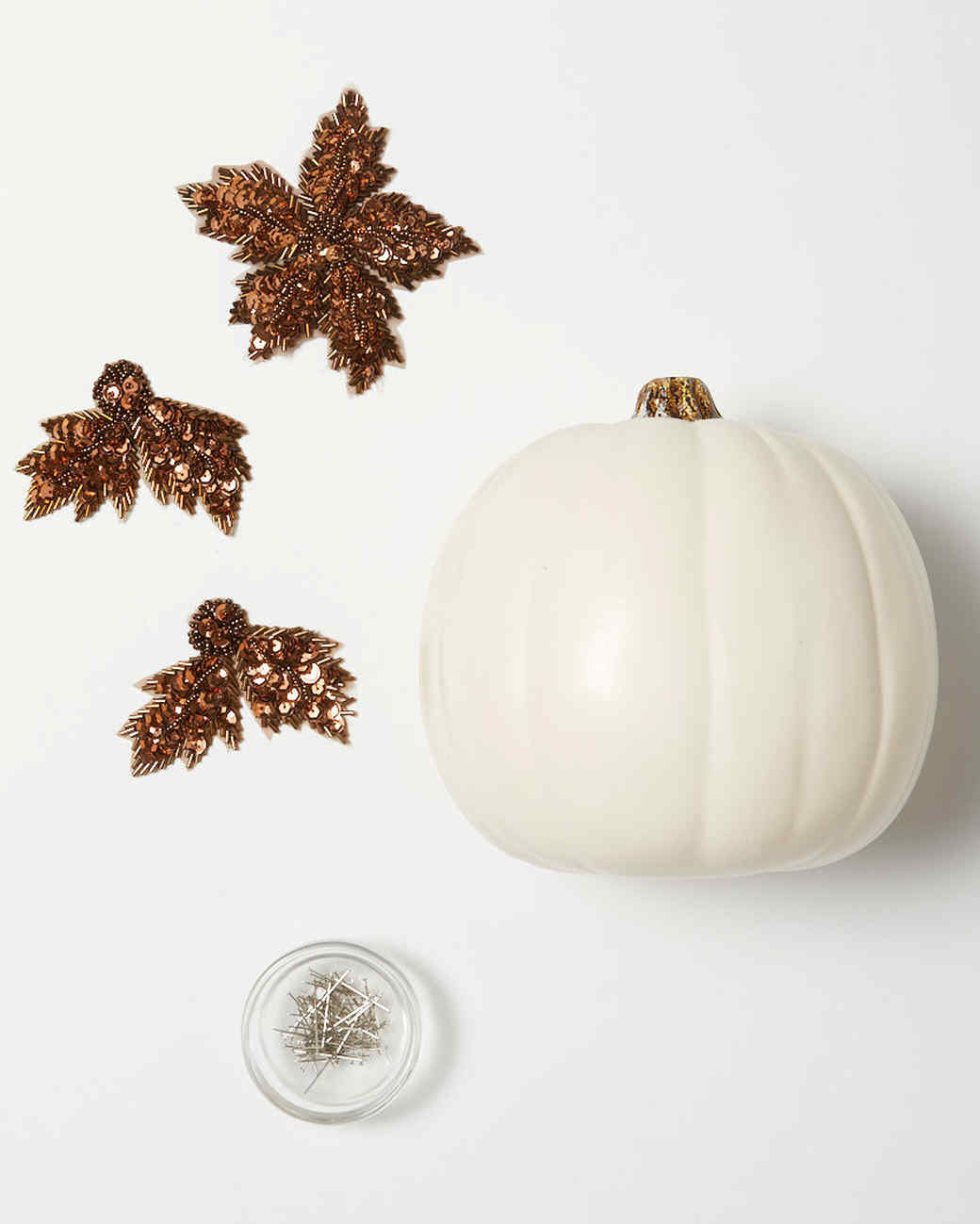 applique pumpkins bronze materials
