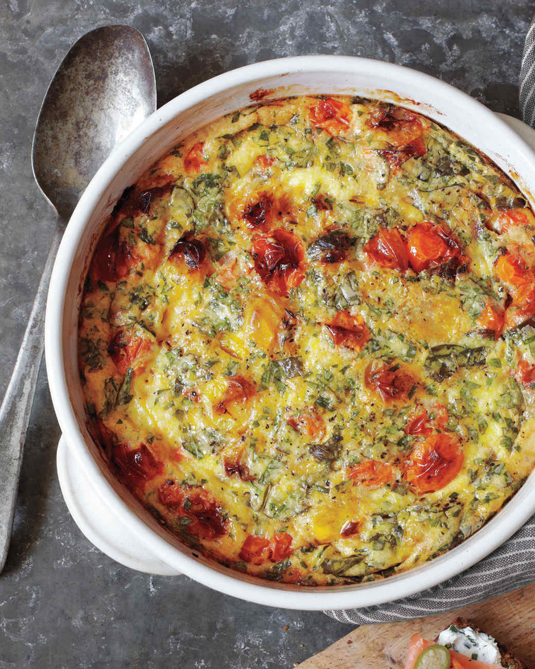 Roasted Cherry Tomato Clafoutis