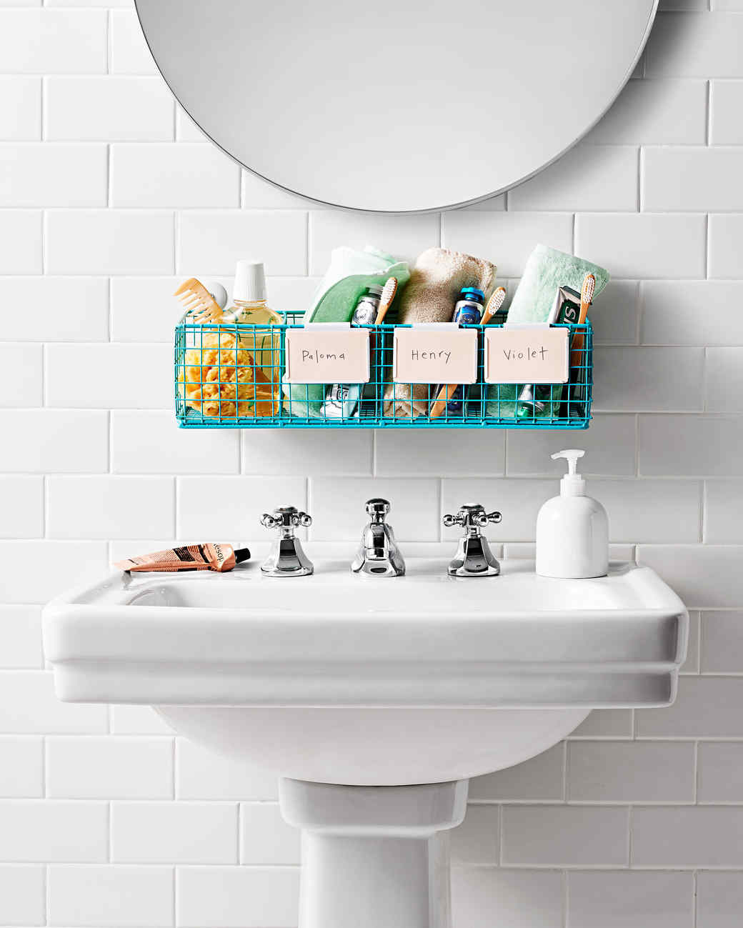 Bathroom Organization Tips | Martha Stewart on sea through bathroom, messy bathroom, pink bathroom, black bathroom, pee no bathroom, wet bathroom, walk through bathroom, pretty bathroom,
