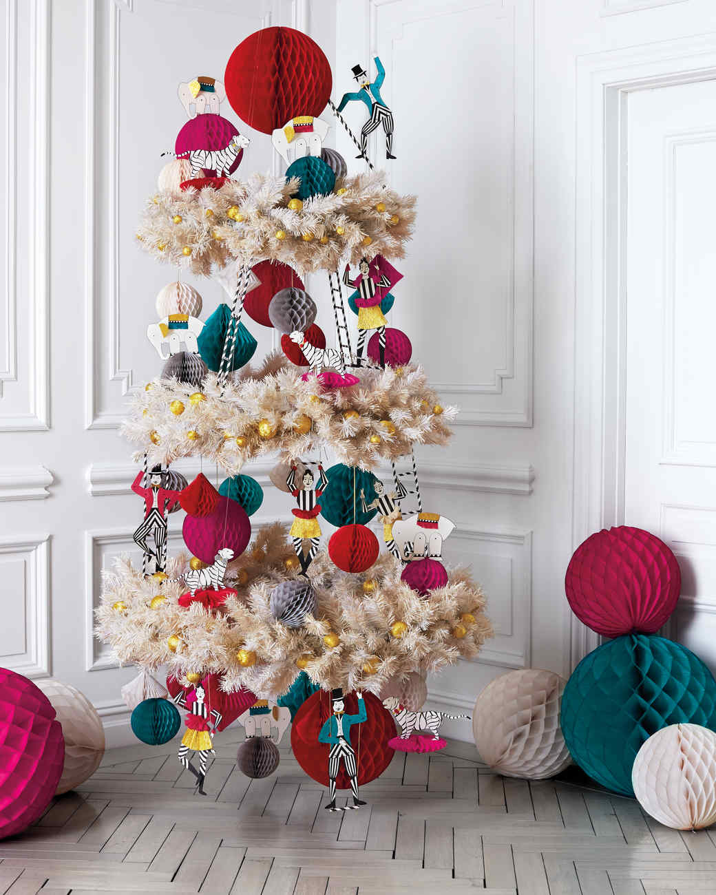 Three-Ring-Circus Christmas Tree | Martha Stewart