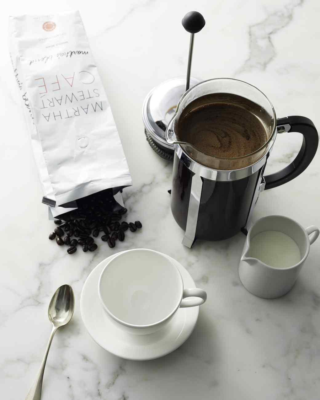 martha stewart cafe coffee bag and french press